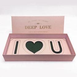 Hot sale Surprise Square i Love You Paper Flower Box