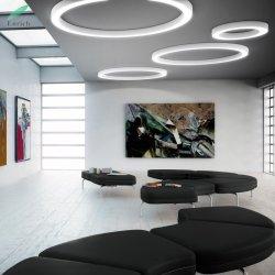 LED-hängendes Ring-Licht-runde Aluminiumdecken-Leuchter, die für Büro 5 Jahre Garantie-beleuchten
