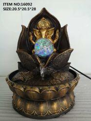 La resina de Buda de la India Artesanía Fuente decorativa interior Feng Shui Fuente de agua regalos muebles de escritorio
