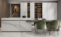 Gesinterde steen elegant kunstblad Countertop Wit