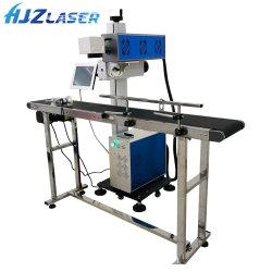 Fliegen CO2 Laser-Markierungs-Maschinen-Drucken-Maschine für Plastik, Glas, keramisch, Bambus, Fertigkeit, Karte, Paket