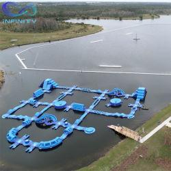 水遊園地のための巨大なカスタマイズされた膨脹可能な水公園膨脹可能な水公園