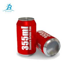 355ml/12oz Aluminiumdose mit Kappe für die Getränkegetränke, die den einfachen Behälter verpacken, öffnen sich
