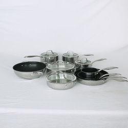 Non Stick frituren pan kookgerei Sets, Best verkopende goedkope roestvrij stalen pot, High Quality Cooking Wok steelpan JY-Sn Sets