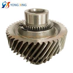 鋼鉄モーター伝達機械装置部品のためのスプラインが付いている螺旋形ギヤシャフト