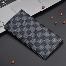La moda ultra delgado impermeable duradera y resistente a los largo de cuero de PU comprueba Wallet dinero Clip para hombres