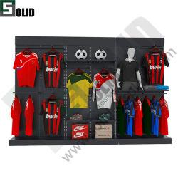 Abbigliamento multiuso dal design più recente Stand Sport Store Abbigliamento per la vendita al dettaglio Sacchetti per calzature Display rack in metallo/legno/acrilico