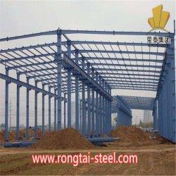 Techo de acero prefabricados Gables edificios puente de estructura de acero de gran tamaño automático CNC Span dobles de acero prefabricados para la estación de servicio