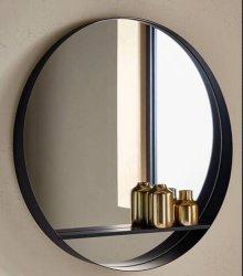 Muur Opgezet om de Zwarte Witte Spiegel van de Badkamers van het Messing Metaal Frame voor de Decoratie van het Huis