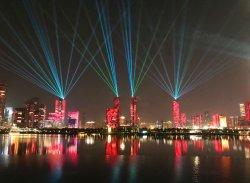 L'extérieur de la lumière laser RVB 61W éclairage de scène faisceau lumineux du projecteur