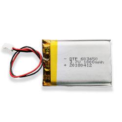 Alimentación 603450 Los datos de la batería de 3.7V 1000mAh Batería Lipo celda