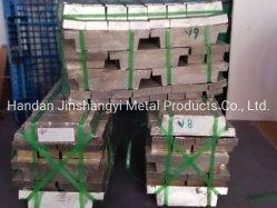 Lingote de estanho de elevada pureza 99,99%/ lingote de metal /Lingote ns de alta qualidade