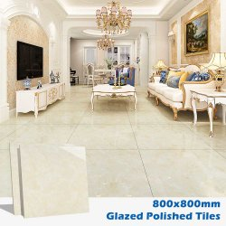 800X800中国製内部の浴室の建築材料のガラス化された艶をかけられた自然な大理石の壁の磁器の陶磁器の床タイル