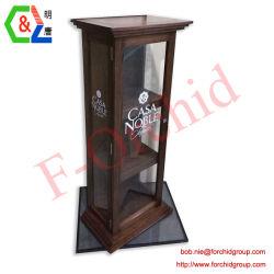 De houten Vitrine van het Kabinet Met Glas