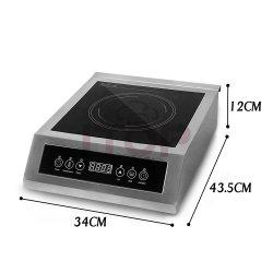 Visor LED de controlo tátil do sensor da carroçaria em aço inoxidável de 3500 W, multifunções Fogão de indução de equipamentos de cozinha comercial
