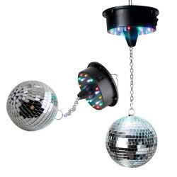 LED 모터가 장착된 미러 유리 볼 음성 제어식 레이저 라이트 스테이지 조명