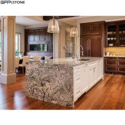 Hoge Countertop van de Keuken van het Eind Natuurlijke Graniet Geprefabriceerde voor de Decoratie van de Villa