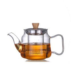 Verre transparent classique avec une surface de cuisson Infuser amovible Safe Tea Maker Set
