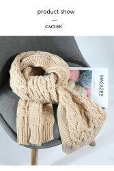 Knit-Schal-Normallack-Muffen-Schal 3 dick wärmen
