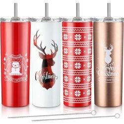 Los colores de seis tazas de agua de acero inoxidable 20 oz o 14 oz como regalos de Navidad vasos
