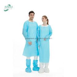 Professionale monouso in PE PP CPE Gown protettivo impermeabile chirurgica medica Tuta impermeabile in plastica