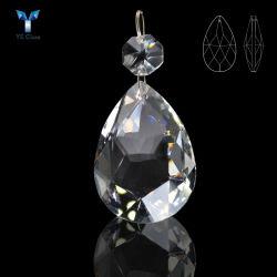 Colgantes de cristal transparente tallados personalizados Cuentas de Lampwork para el hogar Decoración