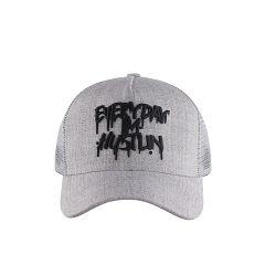 Commerce de gros 3D camionneur broderie logo Baeball Cap chapeau avec maille nylon Retour