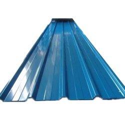 Material de construção Bwg34 Folha de telhado ondulada galvanizada pré-pintada revestida a cores Materiais para telhados em aço PPGI