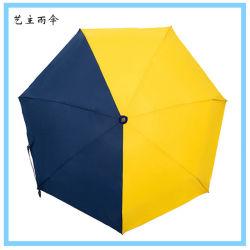 창조적인 까만 코팅 여자의 우산 - 열리는 설명서를 가진 우산 3 접히는 조밀한 우산 (YZ-20-37가)