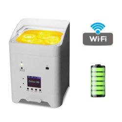 indicatore luminoso a pile della lavata del Portable LED WiFi di controllo UV del telefono di 4ledsx18W RGBWA mini per l'evento della fase della discoteca del DJ