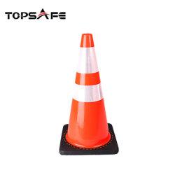 Cono molle flessibile di sicurezza stradale del PVC di colore della strada di parcheggio di sicurezza dei coni arancioni del prodotto