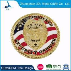 중국 제조자 주문 로고 기념 사기질 3D 금속 기념품 금 군은 승진 선물을%s 은 경찰 도전 동전을 수여한다