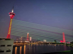 Luce laser Landmark a sale anticorrosivo impermeabile per esterni da 30 W RGB