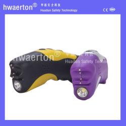 Choque elétrico recarregável com Imobilizadoras Aviso de alarme de alto lanterna