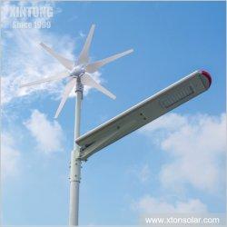 LED 통합 옥외 태양풍 힘 Smartphone APP 통제 시스템 30W 40W 60W 80W를 가진 잡종 가로등