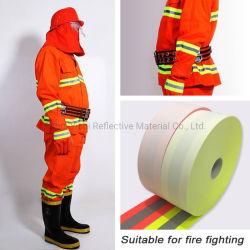 Fita de aviso retardante de fogo de algodão com material refletor
