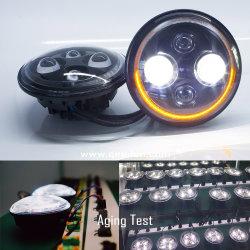 L'automobile calda di 7inch LED illumina i fari del segnale di girata del fascio DRL del motociclo H4 Hi/Low della land rover della jeep dei fari