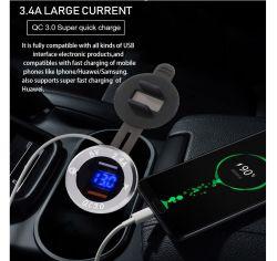 Auto USB-Ladegerät für Telefon, QC3,0 Doppelausgang