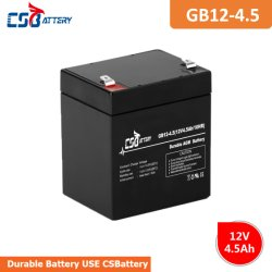 Joint de 12V Csbattery 4,5Ah batterie plomb-acide pour Marine/Alarm-System Medical-Equipment//Solar-Storage