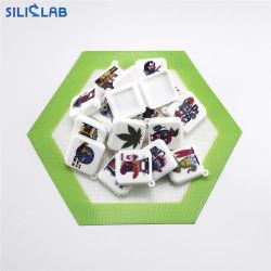Kundenspezifisches Firmenzeichen-mini flacher Nahrungsmittelgrad-Silikon-Behälter für Verkauf