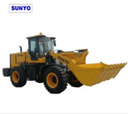핫 세일 미니 휠 로더 T958n, 정격 부하 2.5톤, 4륜 구동
