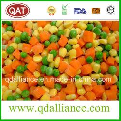 フリーズされたIQFはエンドウ豆、トウモロコシのにんじん、切口の豆と野菜を混合した