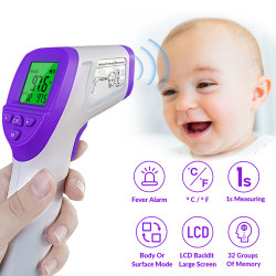 No hay contacto con pantalla LCD para consultorios médicos, hospitales equipos médicos/Termómetro Digital de la FDA Sensor de temperatura/510 (K)