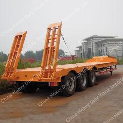 Les machines de transporter 50 tonnes Semi-Trailer faible lit