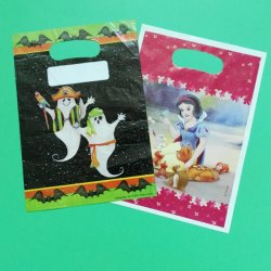 Hermosa Candy bolsa de plástico pequeño, con la impresión de logotipo