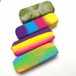 Bolsa de lápis de silicone sacos de cosméticos presente de promoção de volta à escola Papelaria