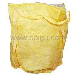 黄色いファブリックPP大きいバルクジャンボ袋