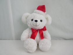 Белый несут Рождество игрушка фаршированные с электроприводом