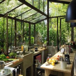 Verre stratifié aluminium pratique Conservatory Garden Room (TS-506)