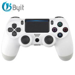 وحدة تحكم Byit Wireless لـ Playstation 4 مع لعبة الاهتزاز المزدوج عصا التحكم (أزرق أبيض)